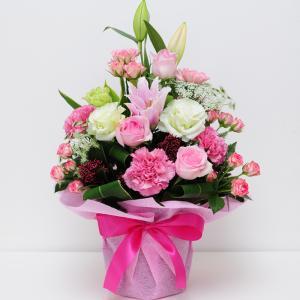 誕生日ギフト 赤いバラ  生花 ローズピンク アレンジメント ホワイトデー 母の日2019 送料無料|flower