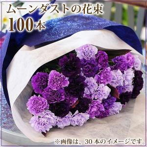 ムーンダスト 花束 青いカーネーション 誕生日 年の数 花ギフト ムーンダスト100本の花束 flower