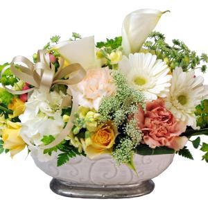 ペット お供え 花  お悔やみ 花 アレンジメント ペット ホワイトベル  Lサイズ 即日発送 翌日配達|flower