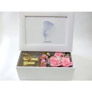 プリザーブドフラワーアレンジメント フォトボックス|flowerelegance