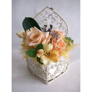 ミニハートのプリザーブドフラワー|flowerelegance