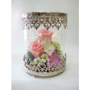 シャビーガラスドーム|flowerelegance