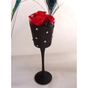新発売【硝子のウインクスタンドにカッティング硝子を施したお洒落な商品です|flowerelegance