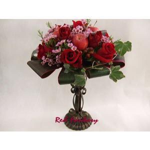 真紅の薔薇のアレンジメント|flowerelegance