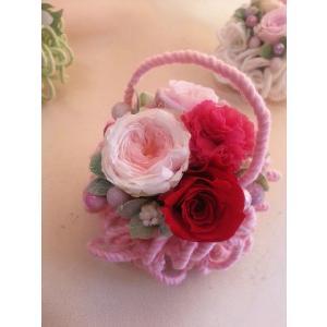 プリザーブドフラワーのアレンジメント「モコモコピンク」|flowerliberte