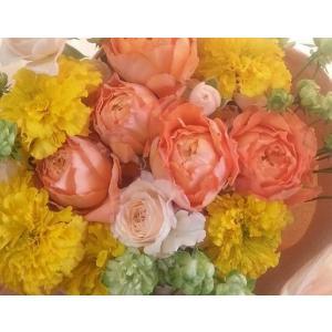 【母の日】フラワーアレンジメント・オレンジイエローM flowerliberte