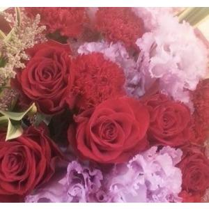 【母の日】フラワーアレンジメント・レッドM flowerliberte
