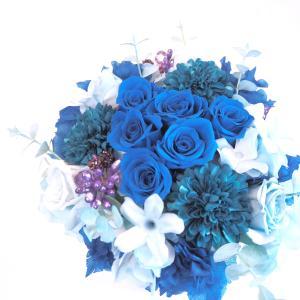 プリザーブドフラワーのアレンジメント【オレンジ】|flowerliberte