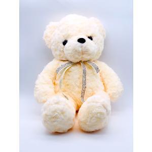 ぬいぐるみ 熊 座高30cm 白 くま クマ 花かごのアクセサリー flowernana