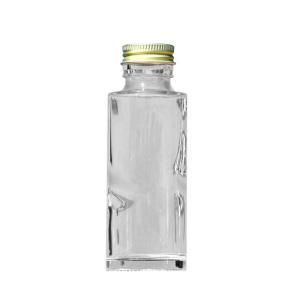 HARU COLLE 浮游花向け用品 円柱ガラスボトル ネジ式ゴールドキャップ ハーバリウム用透明ボトル 100ml空瓶|flowernana