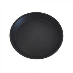 明和フラワーポット セラアートシリーズ 皿 M ブラック 1個|flowernana