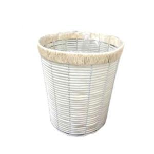 定番バスケット PEカゴ 8寸丸タイプ 鉢カバー 白 2-2008|flowernana