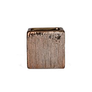 陶器 角形 フラワーベース 2237T ゴールド 花瓶|flowernana