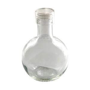 HARU COLLE 浮游花向け用品 丸フラスコ型ガラスボトル キュート300 ネジ式クリアキャップ ハーバリウム用透明ボトル 300ml空瓶|flowernana