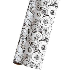 TOKYO RIBBON OP40モノクローム #4 バラ ラッピングペーパー 70cmx20m 包装紙|flowernana