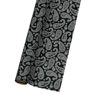 TOKYO RIBBON OP40モノクローム #10 ペイズリー ラッピングペーパー 70cmx20m 包装紙|flowernana