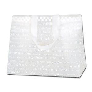 HEIKO HDポリチャームバッグ チェッカー Wタイプ M アレンジ袋 1枚 ポリ袋|flowernana