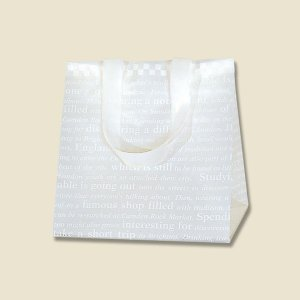 HEIKO HDポリチャームバッグ チェッカー Wタイプ S アレンジ袋 20枚入 ポリ袋|flowernana