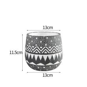 花器 花瓶 フラワーベース 四角 ストライプ 花 陶器 ギフト サイズー13cm*13cm*11.5H 穴あり,ガーデニング,園芸,鉢|flowernana