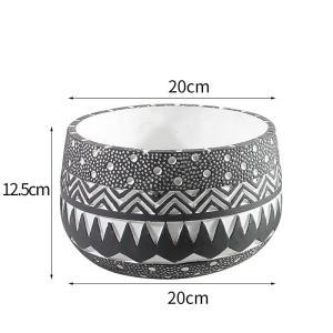 花器 花瓶 フラワーベース 四角 ストライプ 花 陶器 ギフト サイズー20cm*20cm*12.5H 穴あり,ガーデニング,園芸,鉢|flowernana