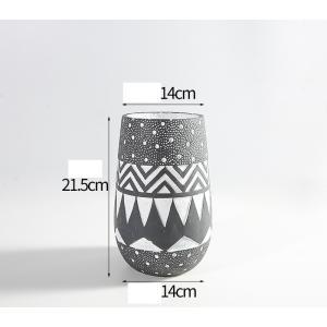 花器 花瓶 フラワーベース 四角 ストライプ 花 陶器 ギフト サイズー13.5cm*13.5cm*21.5H 穴あり,ガーデニング,園芸,鉢|flowernana
