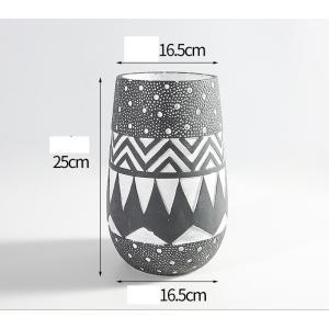 花器 花瓶 フラワーベース 四角 ストライプ 花 陶器 ギフト サイズー16.5cm*16.5cm*25H 穴あり,ガーデニング,園芸,鉢|flowernana