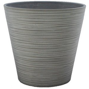 エコ・フレンドリーポット EGP3129LCH 8号鉢カバー ライトチャコール 1個|flowernana