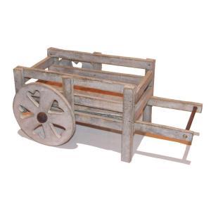 クアツ ガーデニング オーナメント 二輪車 K13-007 木製品|flowernana