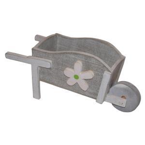 クアツ ガーデニング オーナメント 一輪車 K13-008 木製品|flowernana
