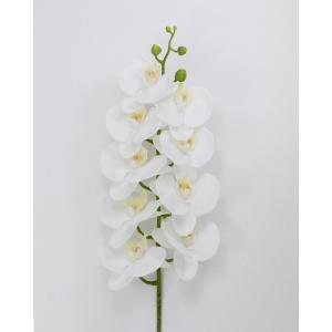 プレゼント 花 ギフト 造花 造花 胡蝶蘭 L95cm 白+イエロー フラワー A46 1本|flowernana