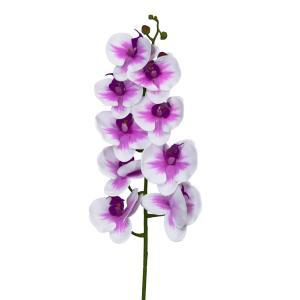 プレゼント 花 ギフト 造花  造花 胡蝶蘭 L95cm 白+ピンク フラワー A24 1本|flowernana