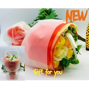 ローズブーケ お祝い シャボンフラワー ソープフラワー お花ギフト 石鹸ローズブーケ イエロー プレゼント|flowernana