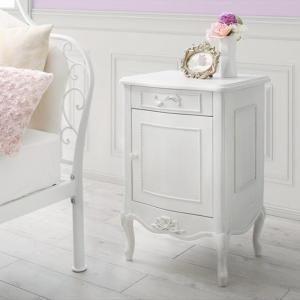 テーブル サイド テーブル おしゃれ 姫 ホワイト 白 / サイドテーブル W40