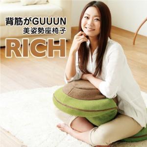 背筋がGUUUN 美姿勢座椅子 リッチ メッシュグリーンの写真