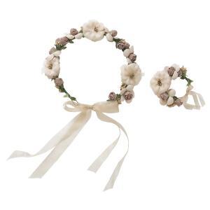 花かんむり & バングルセット ブラウンベージュ|flppr
