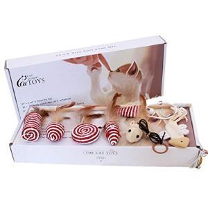 Sakico 猫おもちゃ 猫じゃらし 猫遊び 羽のおもちゃ じゃれ猫 鈴付き 釣り竿 交換用猫玩具付き ネズミ 噛むおもちゃ 天然素材 羽根の画像