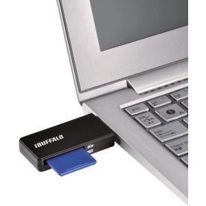 iBUFFALO USB3.0 microSD/SDカード専用カードリーダー レッド BSCR27U...