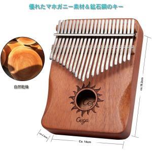 カリンバ 21キー 親指ピアノ アフリカ楽器 ナチュラル C 調 音調調節可能 初心者 (太陽)