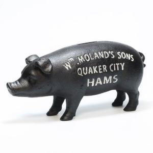 HAMS STANDING PIG BANK BLACK (ハムズ スタンディング ピッグ ブラック)|flyers