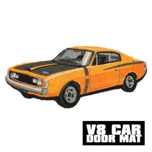 V8 CAR DOOR MAT COUPE YELLOW2 (V8 カー ドア マット クーペ イエロー2)|flyers