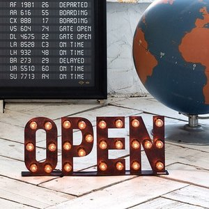 OPEN SIGN STAND LAMP (オープンサイン スタンド ランプ) AW-0403V 【送料無料】 【ポイント10倍】 【AWS】|flyers