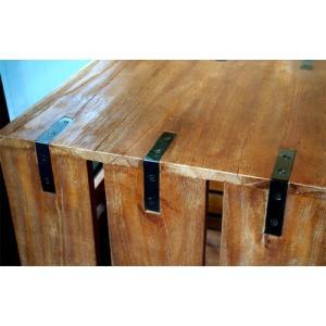 【BIMAKES ビメイクス】 OLD TEAK BOX SHELF 2STEP (オールド チーク ボックス シェルフ 2段) 【送料無料】 【ポイント5倍】 flyers 03