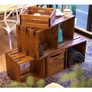 【BIMAKES ビメイクス】 OLD TEAK BOX SHELF 2STEP (オールド チーク ボックス シェルフ 2段) 【送料無料】 【ポイント5倍】 flyers 05