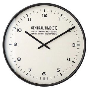 CENTRAL TIME WALL CLOCK BLACK (セントラルタイム ウォール クロック ブラック) CL-1479BK 【送料無料】 【ポイント5倍】 【IF】|flyers
