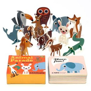 OMM ANIMAL PARADE 3D PUZZLE (OMM アニマル パレード 3D パズル)|flyers