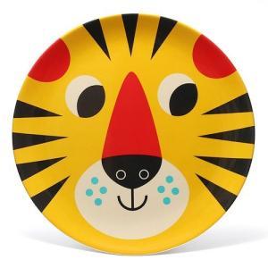OMM DESIGN MELAMINE PLATE TIGER FACE (OMM デザイン メラミン プレート タイガー フェイス)|flyers