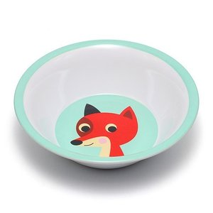 ■ OMM DESIGN MELAMINE BOWL FOX WITH MINT (OMM デザイン メラミン ボウル フォックス ウィズ ミント)|flyers