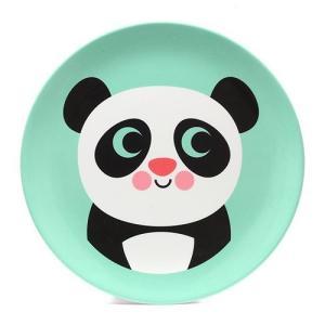 ■ OMM DESIGN MELAMINE PLATE PANDA (OMM デザイン メラミン プレート パンダ)|flyers