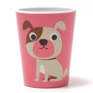 ■ OMM DESIGN MELAMINE TUMBLR DOG WITH PINK (OMM デザイン メラミン タンブラー ドッグ ウィズ ピンク)|flyers