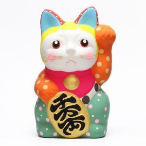 DOTS MANEKI NEKO ORANGE (ドット 招き猫 オレンジ)|flyers